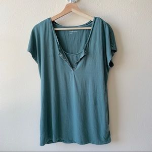 GAP Maternity green blouse with built in bra